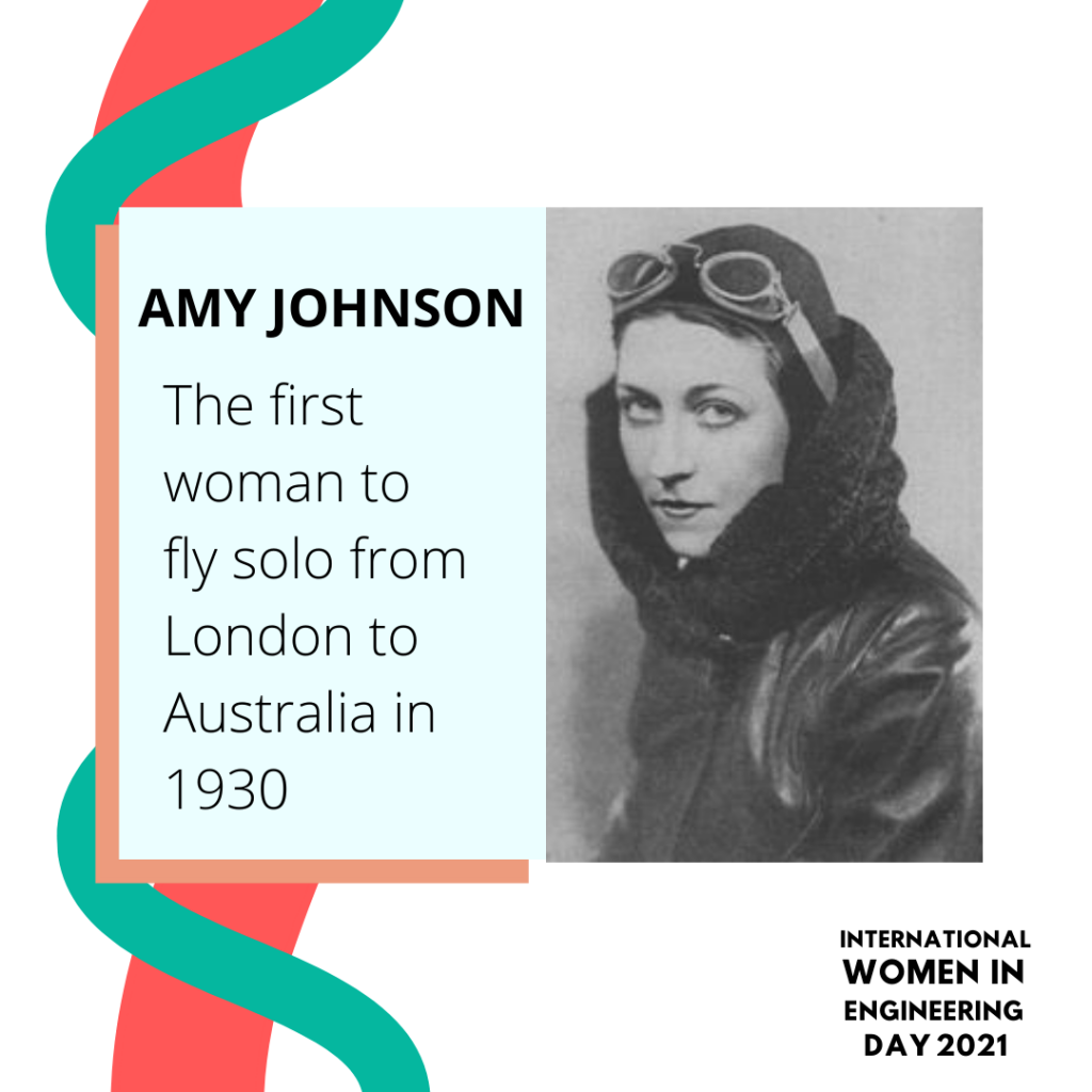 Women in engineering day biography for Amy Johnson
