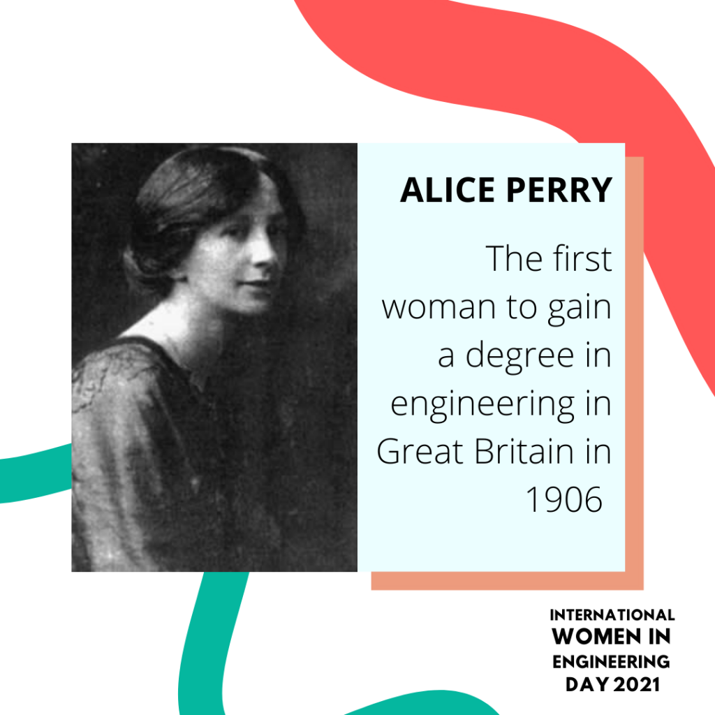 Women in engineering day biography for Alice Perry