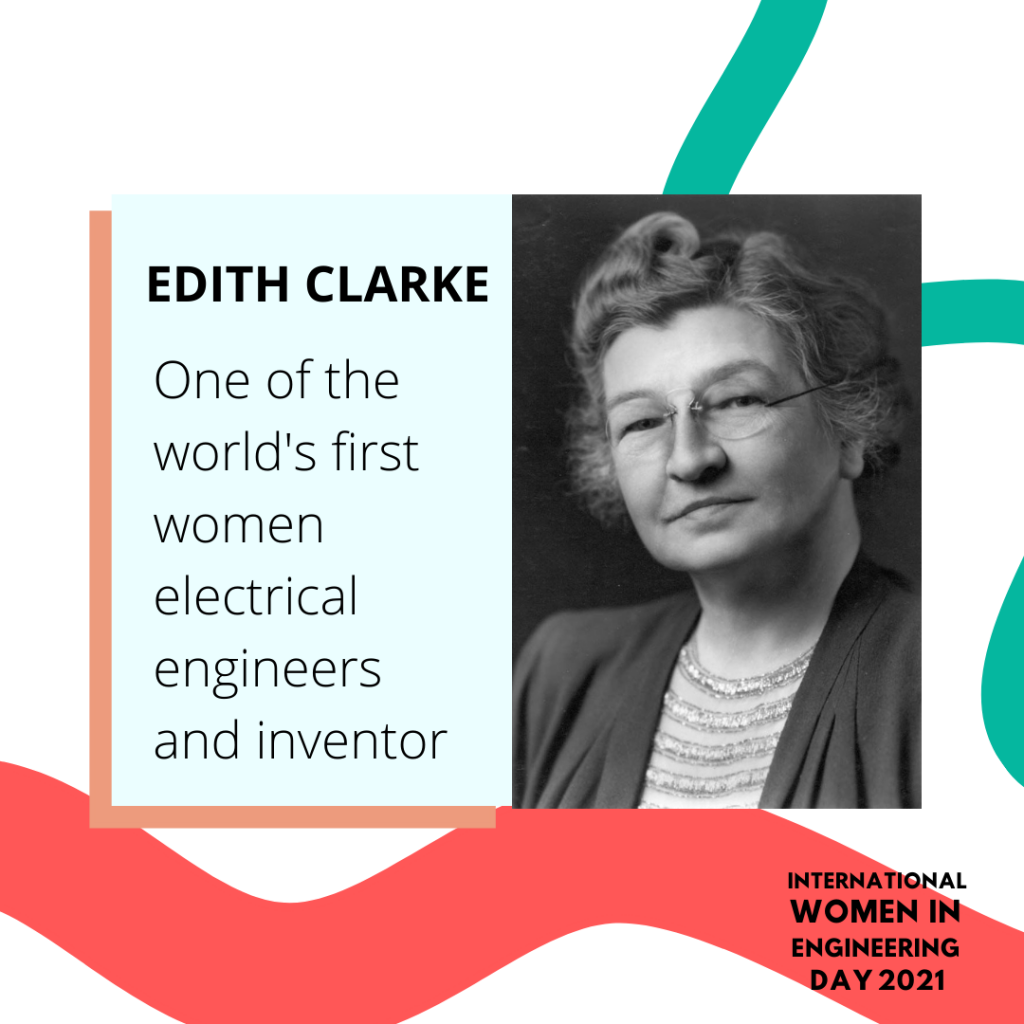 Women in engineering day biography for Edith Clarke