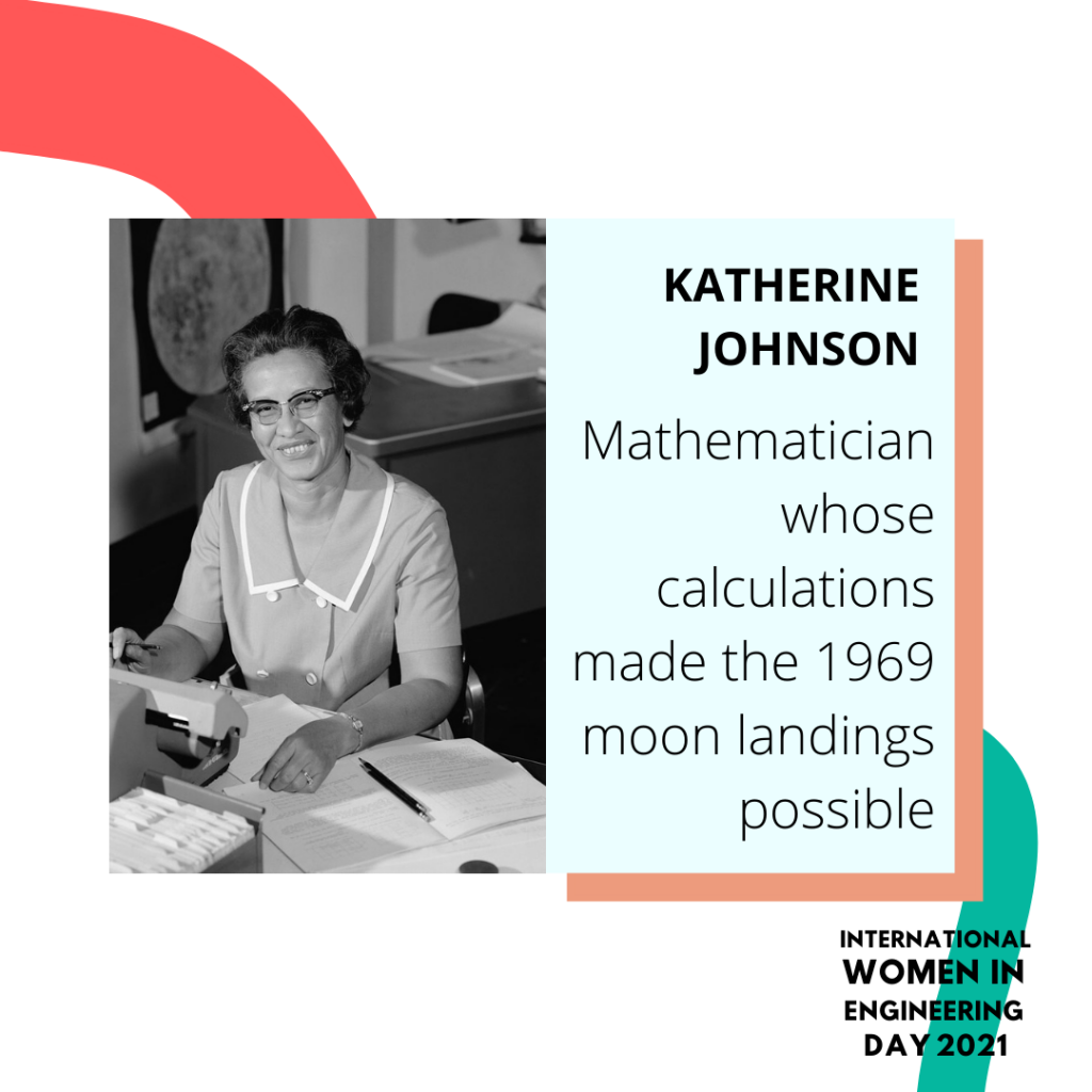 Women in engineering day biography for Katherine Johnson