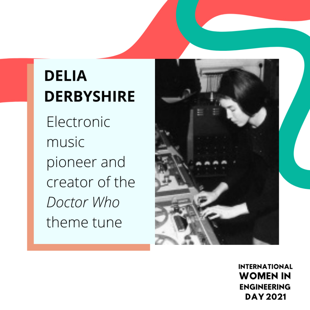 Women in engineering day biography for Delia Derbyshire