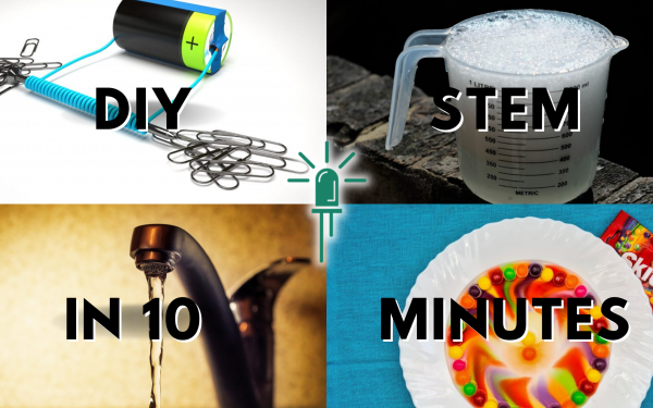 4 DIY STEM experiments you can do in 10 minutes